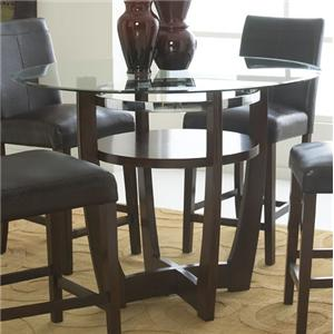 Standard Furniture Apollo Round Glass Counter Height Table