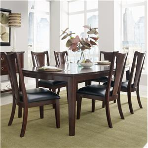 Standard Furniture Park Avenue II 7 Piece Dining Table Set