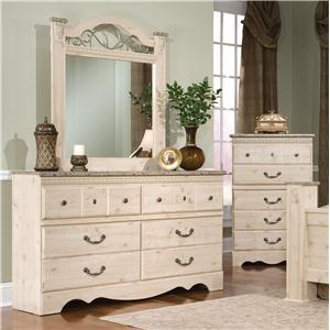 Standard Furniture Seville Dresser & Mirror