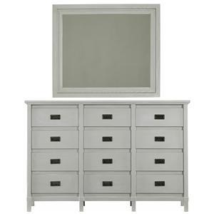 Stanley Furniture Coastal Living Resort Haven's Harbor Dresser & Day's End Mirror