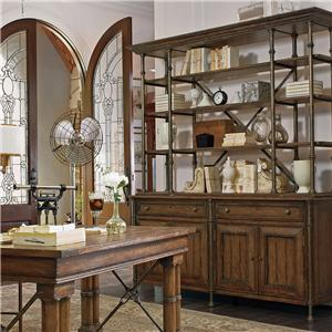 Stanley Furniture European Farmhouse Campagne Cabinet & L'Acrobat Open Air Shelf