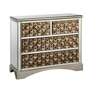 Stein World Cabinets Savona 3-Drawer Mirrored Chest