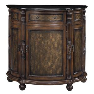 Stein World Cabinets Granite Top Demilune Cabinet