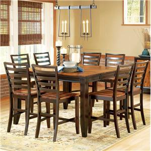 Steve Silver Abaco 9-Piece Gathering Table Set