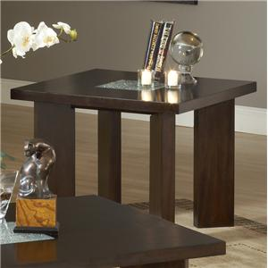Steve Silver Delano End Table with Cracked Glass Insert
