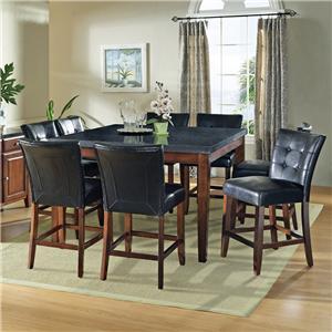 Steve Silver Granite Bello 9-Piece Gathering Table Set