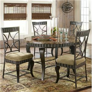 Steve Silver Hamlyn 5 Piece Faux Marble Top Dining Table Set