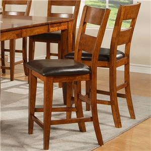 Steve Silver Mango Ladder Back Counter Stool