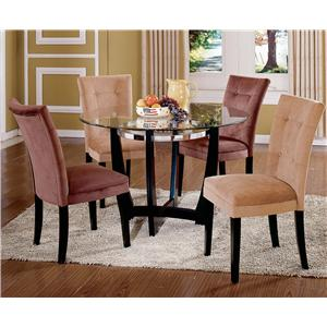 Steve Silver Matinee Glass Top Dining Table & Chair Set