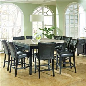 Steve Silver Monarch 9 Pc. Marble Veneer Top Gathering Table Set