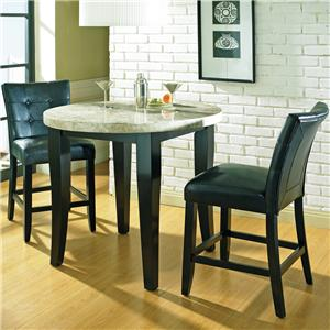Steve Silver Monarch 3 Pc. Round Top Counter Table Set