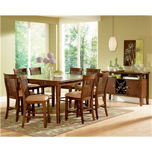 Steve Silver Montreal 9-Piece Pub Table & Chair Set