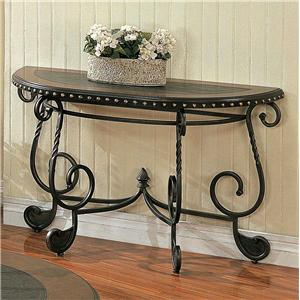 Steve Silver Rosemont Metal Sofa Table