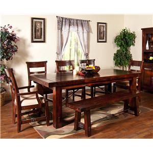 Sunny Designs Vineyard 6Pc Dining Room