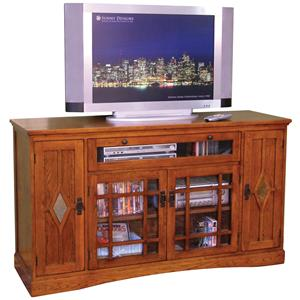 Sunny Designs Mission Oak Counter Height TV Console