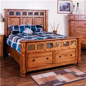 Sunny Designs Sedona Queen Bed w/ Storage