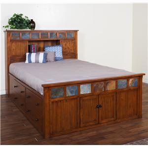 Sunny Designs Sedona Queen Storage Bed w/ Slate