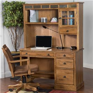 Sunny Designs Sedona Single Pedestal Desk and Hutch