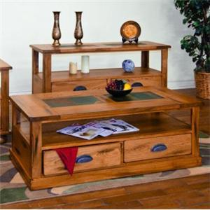 Sunny Designs Sedona Coffee Table w/ Drawers & Casters