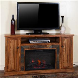 Sunny Designs Sedona Fireplace Media Console w/ Firebox