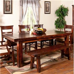 Sunny Designs Vineyard Extension Kitchen Table