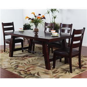 Sunny Designs Vineyard 5-Piece Rectangular Table Set