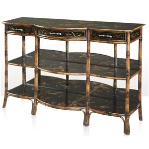 Theodore Alexander Indochine Three Tier Console Table