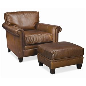 Thomasville® Leather Choices - Mercer Chair & Ottoman