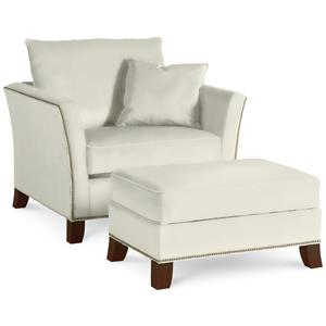 Thomasville® Upholstered Chairs and Ottomans Chair and Half