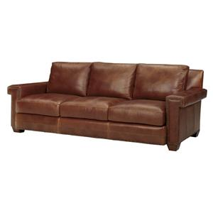 Tommy Bahama Home Road To Canberra <b>Quick Ship</b> Torres Leather Sofa