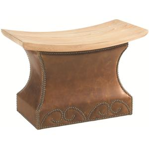Tommy Bahama Home Road To Canberra Mackay Leather Ottoman