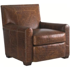 Tommy Bahama Home Road To Canberra Stirling Park Leather Chair