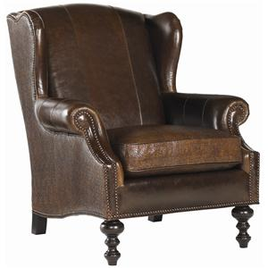 Tommy Bahama Home Royal Kahala Batik Leather Wing Chair