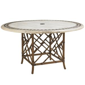 Tommy Bahama Outdoor Living Island Estate Veranda Outdoor Stone Round Dining Table
