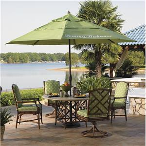 Tommy Bahama Outdoor Living Island Estate Veranda 6 Piece Dining Table, Chair and Umbrella Set