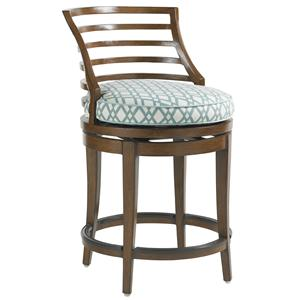 Tommy Bahama Outdoor Living Ocean Club Pacifica Outdoor Swivel Counter Stool