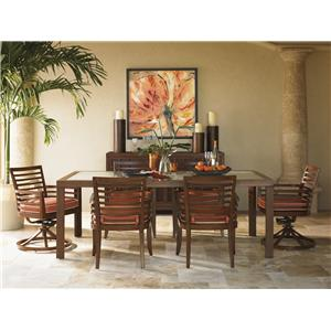 Tommy Bahama Outdoor Living Ocean Club Pacifica 7 Piece Dining Table and Chair Set