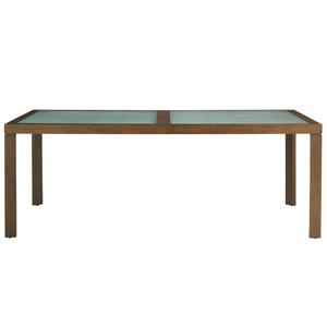 Tommy Bahama Outdoor Living Ocean Club Pacifica 84 Inch Dining Table w/ Etched Glass Inserts