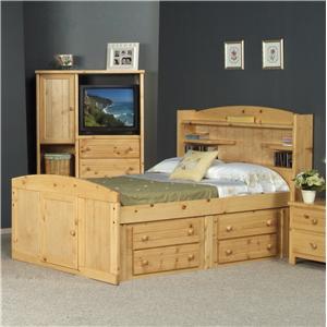 Trendwood Bayview Twin Palomino Bed