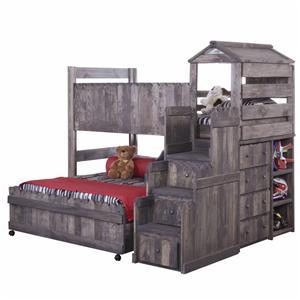 Trendwood The Fort Twin/Full Loft Bed