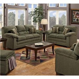 United Furniture Industries 3684 2 Piece Living Room Group