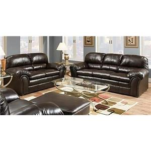 United Furniture Industries 6159 2 Piece Stationary Living Room Group