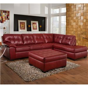 Simmons Upholstery 9569 2 Piece Sectional