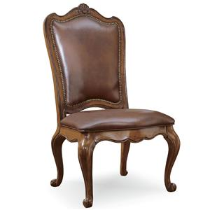 Universal Villa Cortina Uph Back Side Chair-Leather