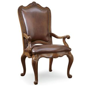 Universal Villa Cortina Leather Dining Arm Chair