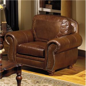 USA Premium Leather 8555 Traditional Leather Chair