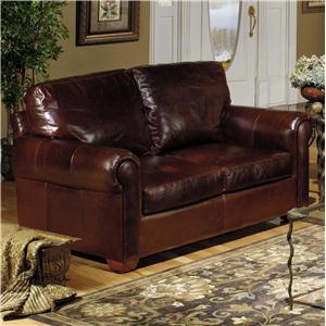 USA Premium Leather USA Premium Leather 8955 Leather Stationary Loveseat