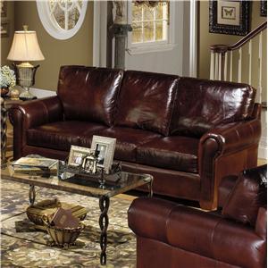 USA Premium Leather USA Premium Leather 8955 Leather Stationary Sofa