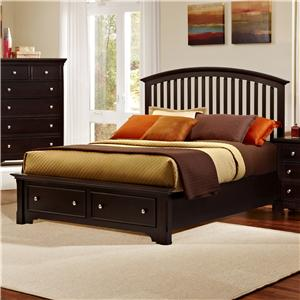 Vaughan Bassett Forsyth Queen Arched Storage Bed