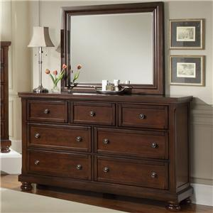Vaughan Bassett Reflections 7 Drawer Dresser and Mirror Combination